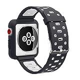 EL-move Apple iWatch Armband 42mm, Serie 1 2 3 Sport Silikon Armbanduhr Silikonarmband Ersatzarmband Armband für Apple iWatch/Apple Uhr Nike+ Serie 1 Serie 2 Serie 3 (42MMAPBGR)