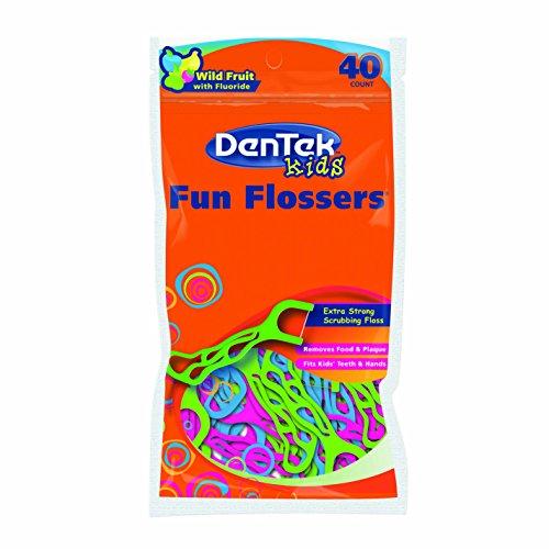 Dentek Kinder Zahnseide mit Halterung, 6Stück, Gesamt 240