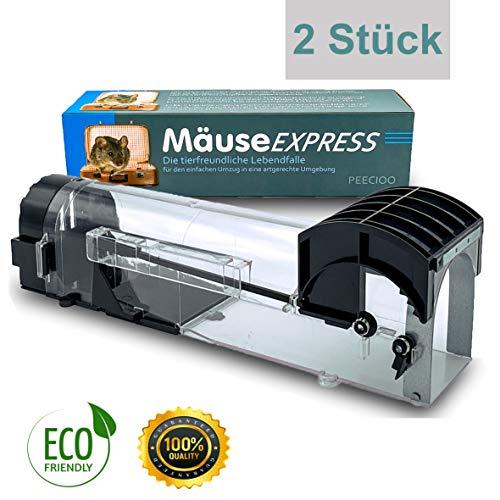 PEECIOO - MäuseExpress - 2er Pack - Lebend Mausefalle für den Mauseumzug