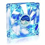 AAB Cooling Super Silent Fan 9 Blue LED - Leise und Efizient 92mm Gehäuselüfter mit 4 Anti-Vibration-Pads und Blauer LED Hintergrundbeleuchtung - CPU Lüfter | PC Fan | Cooling Lüfter | Kühlung