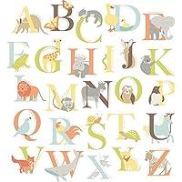Wallpops Self Adhesive Alphabet Zoo Kit, Multi