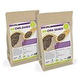 Vita2You BIO Chia Samen Organic - 2 x 1kg Zippbeutel - 2er Pack (2000g) - Salvia Hispanica