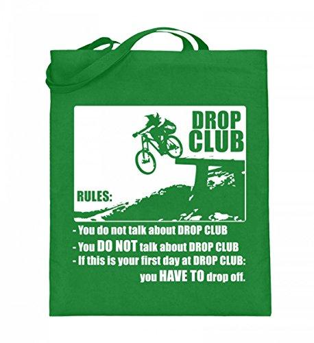 Hochwertiger Jutebeutel (mit langen Henkeln) - Dropclup Regeln Hellgrün