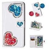 KM-Panda Housse Coque iPhone XR Paillette Cuir PU Folio Wallet Cover Silicone TPU...