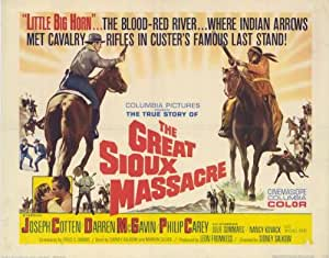 The Great Sioux Massacre Affiche Movie Poster (11 x 14 Inches - 28cm x 36cm) (...