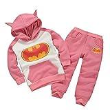 Vogholic Girls Nette Karikatur Bat Fleece Pullover Hoodie + -Hosen P110Cm