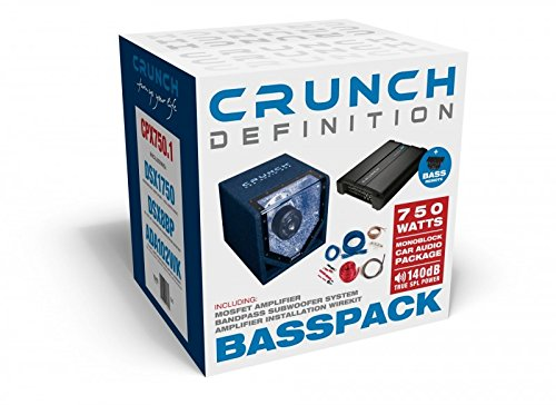 Single-bandpass-subwoofer-system (Crunch CPX750.1 Basspack)