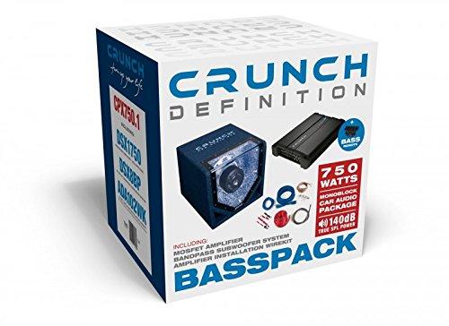 Crunch CPX750.1 Basspack Single-bandpass-subwoofer-system