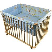 """Honey Bee"""" Parc bébé de luxe parc enfant 100x75cm parc de bebe bleu clair 53516-D02"""