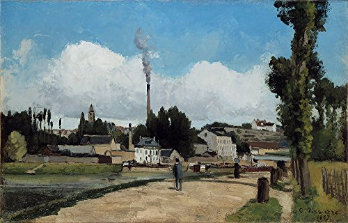 Spiffing Prints Camille Pissarro - Banks of The Oise at Pontoise - Large - Matte Print -