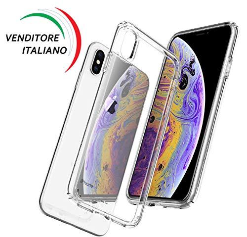 Cover iPhone X, Cover iPhone XS, Apple Silicone Custodia Trasparente Antiurto Ultra Slim TPU Indistruttibile Ultrasottile Gomma Bumper Sottile Protettiva Antigraffi Morbida