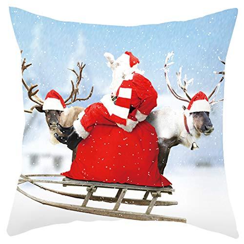 OPALLEY 1 Stück Weihnachten Designs Kissenbezug Set für Festliche Hausdekoration und Wohnzimmer Akzent (Kissen Nicht im Lieferumfang enthalten)