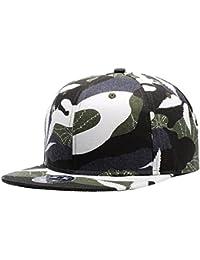 Wuke Gorra de Trucker Sombrero de Beisbol Hombre Mujer Camuflaje de Hojas  Blanco y Verde Gorra 4f264289af1