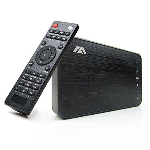 AGPTEK Schwarz 1080 P HDMI TV Media Player mit HDMI YPbPr USB 2.0 SD Ports Fernbedienung für MP3 Avi RMVB Mpeg usw.