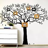 Wandora W1351 Wandtattoo Baum mit Ästen und Blättern haselnussbraun (BxH) 140 x 117 cm