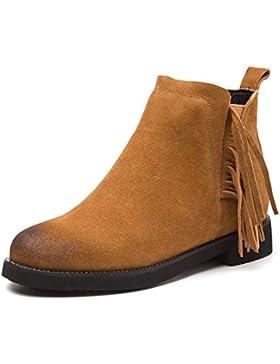 KPHY-El otoño y el invierno nuevo gruesa cabeza redonda con botas cortas el flujo de Martin botas botas High-Heeled...