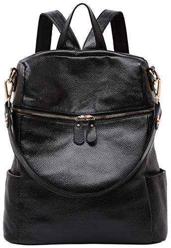 BOYATU Damen Rucksack Schultertaschen Leder Schultaschen für junge Damen Schulrucksack Casual Daypack Reiserucksack -