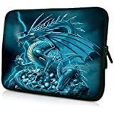 "Laptoptasche Notebooktasche 15"" - 15.6"" zoll Fall Neopren für Notebooks Dell HP Macbook Samsung Apple Toshiba*BLUE DRAGON*"