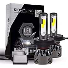 SIGHTLING 2X H4 60W 6000LM LED Faros Delanteros Bombillas Cohces Lámpara luz 6000K IP68-3
