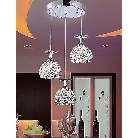 cristallo led moderna lampada a sospensione dal design coppa di vino