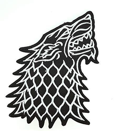 Parche Bordado Termoadhesivo Lobo Stark