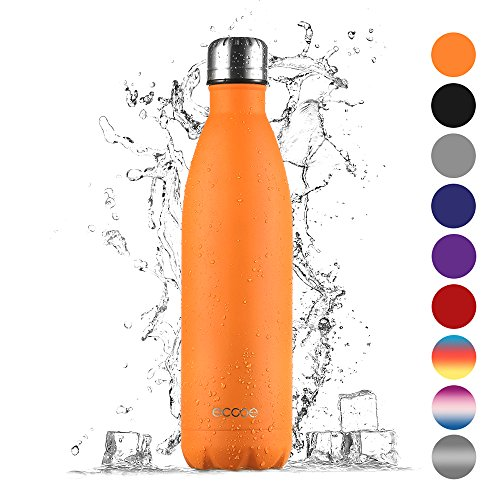 Ecooe Thermosflasche 750 ml doppelwandig (Orange)