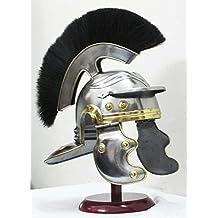 240044034Shiv Shakti empresa centurión romano Medieval Armor casco caballero romano oficial casco de centurión réplica con pluma
