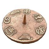 Taufkerzenleuchter Kerzenleuchter Leuchter 7 Symbole 12 cm Bronze Ringfuss