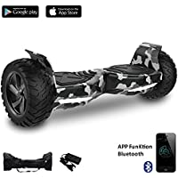 """Cool&Fun 8.5"""" Hoverboard Scooter Patinete Hummer SUV 700W Eléctrico Bluetooth APP self balancing (Army Green)"""