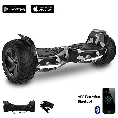 Cool&Fun Challenger Basic 8,5 Hoverboard SUV APP Elektro Scooter E-Balance E-Skateboard Elektroroller (Army Green)