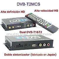 SODIAL(R) DVB-T HD SD Multi-Canal Movil Coche Digital TV Caja Mini TV Sintonizador Analogico Alta Velocidad 240 km/h Receptor de Senal Fuerte para Monitor del Coche