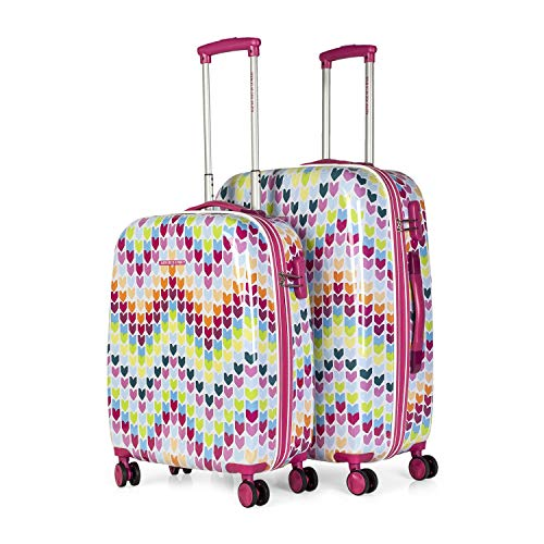 AGATHA RUIZ DE LA PRADA – 68400 SET 2 TROLLEYS POLICARBONATO, Color Fucsia