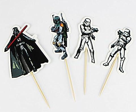 Star Wars Cupcake Picks Set Of 8 Topper Party Decorations Kit Birthday Celebrate