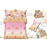Story@Home Designer Polycotton Double Bedsheet with 2 Pillow Covers (SE1446)