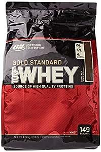 Optimum Nutrition Gold Standard 100% Whey Protein Powder - 4.54 kg, Double Rich Chocolate