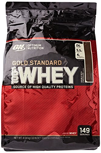 Optimum Nutrition Gold Standard 100% Whey Protein Powder - 4.54 kg, Double Rich Chocolate