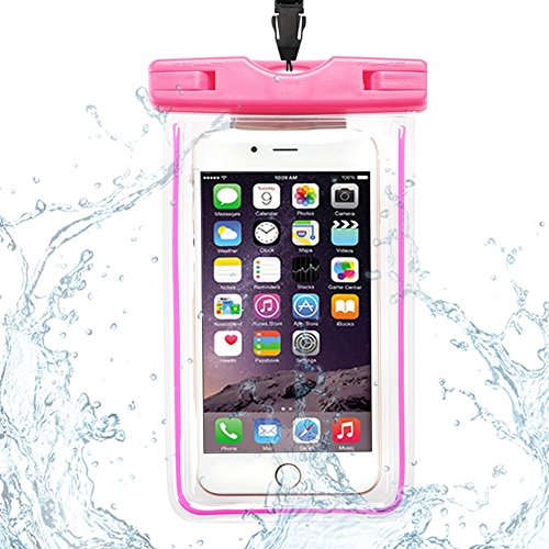 Custodia Impermeabile, CaseLover Borsa Sacchetto Impermeabile Cellulare Dry Bag Universale Fino a 6 Pollici Smartphone per Samsung Galaxy S8/ J7/ J5/ J3/ A7/ A5/ A3, Huawei P10/ P10 Lite/ P9 Lite/ P8  Rosa