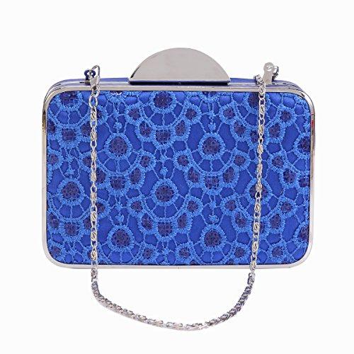 Damara® Damen Stickerei Rechteck Clutch Handtasche Mit Pailletten Rot