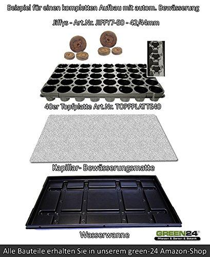 GREEN24 100 St. Jiffy Original Quell-Tabletten Torf-Quelltöpfe 44mm Aussaaterde Anzuchterde Torftablette mit Anleitung - 4