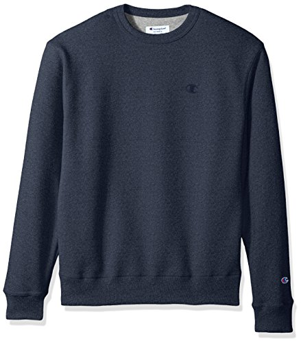 Champion Men's Powerblend® Fleece Pullover Crew S Blue - Crew Sweatshirt Oxford