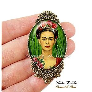 .Frida.Kahlo Brosche. und die katze
