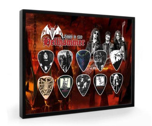 Hellhammer Limited to 200 Framed Chitarra Pick Plettri Display