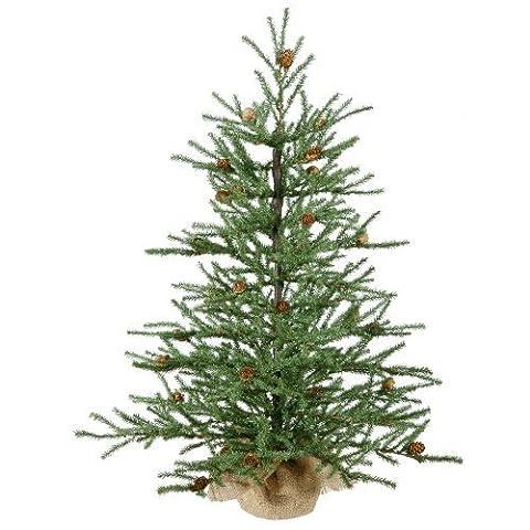 Vickerman Carmel Pine with Cones and 684 Tips Burlap Base, 30-Inch by Vickerman