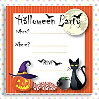 INKIPINKICARDS 10 Spooky Halloween Children