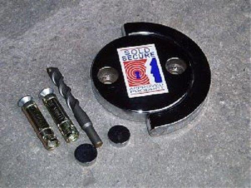 Squire Ex-caliber 14mm x 1.5m de chaîne avec une Ss50cs Cadenas combiné avec une nouvelle Evolution Ancrage au sol