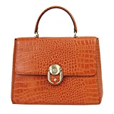 Da Milano LB-4187 Orange Leather Handbag