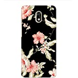 Kaira High Quality Printed Designer Soft Silicon Back Case Cover For Panasonic Eluga Ray 700 (blackflower)