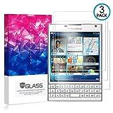 Ycloud [3 Pack] Protector de Pantalla para Blackberry Passport Silver Edition,[9H Dureza/0.3mm],[Alta Definicion] Cristal Vidrio Templado Protector para Blackberry Passport Silver Edition