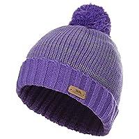 Trespass Childrens/Kids Florrick Knitted Winter Pom Pom Hat (2/4 Years) (Viola)