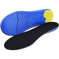 SOUMIT Sport Einlegesohlen | Atmungsaktiv PU Schaum mit Weich Silikon-Gel Heel Kissen für Freizeit Beruf Running Alltag, Optimale Dämpfung an Schützen Sie Ihre Füße (L EU42-46, Länge: 31CM)